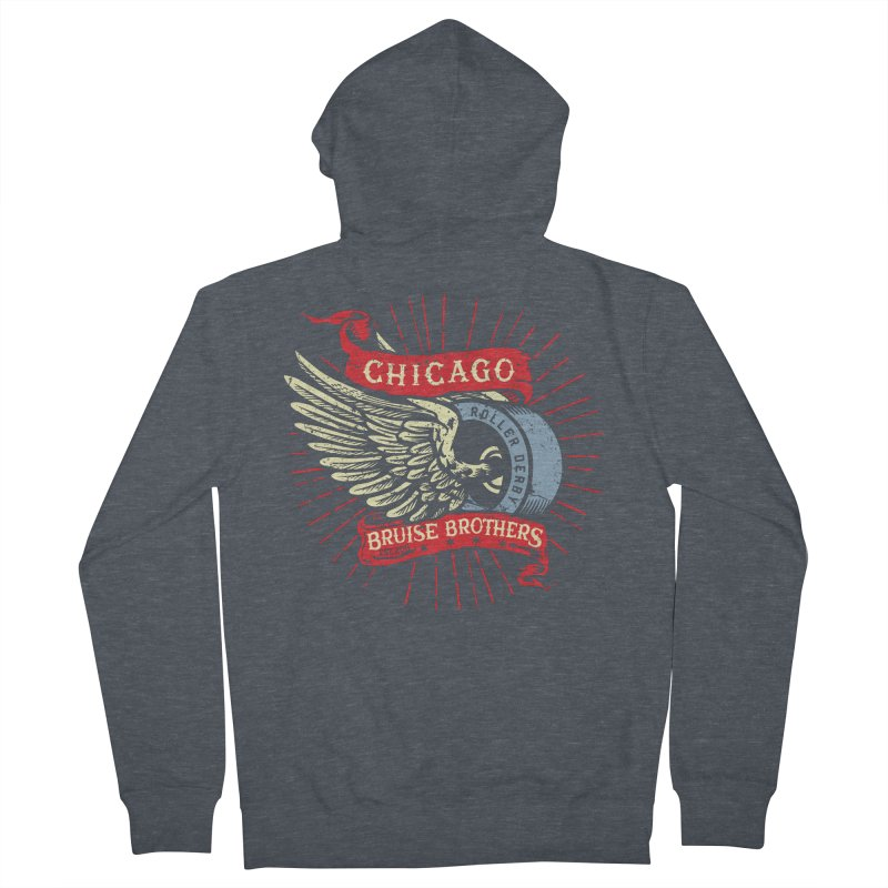 Heritage Design Men's French Terry Zip-Up Hoody by Chicago Bruise Brothers Roller Derby