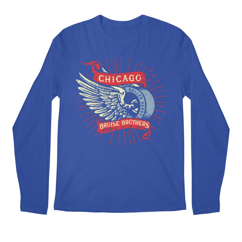 Heritage Design Men's Regular Longsleeve T-Shirt by Chicago Bruise Brothers Roller Derby