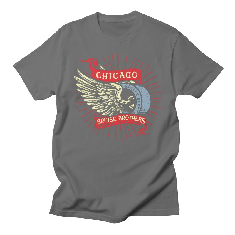 Heritage Design Women's Regular Unisex T-Shirt by Chicago Bruise Brothers Roller Derby