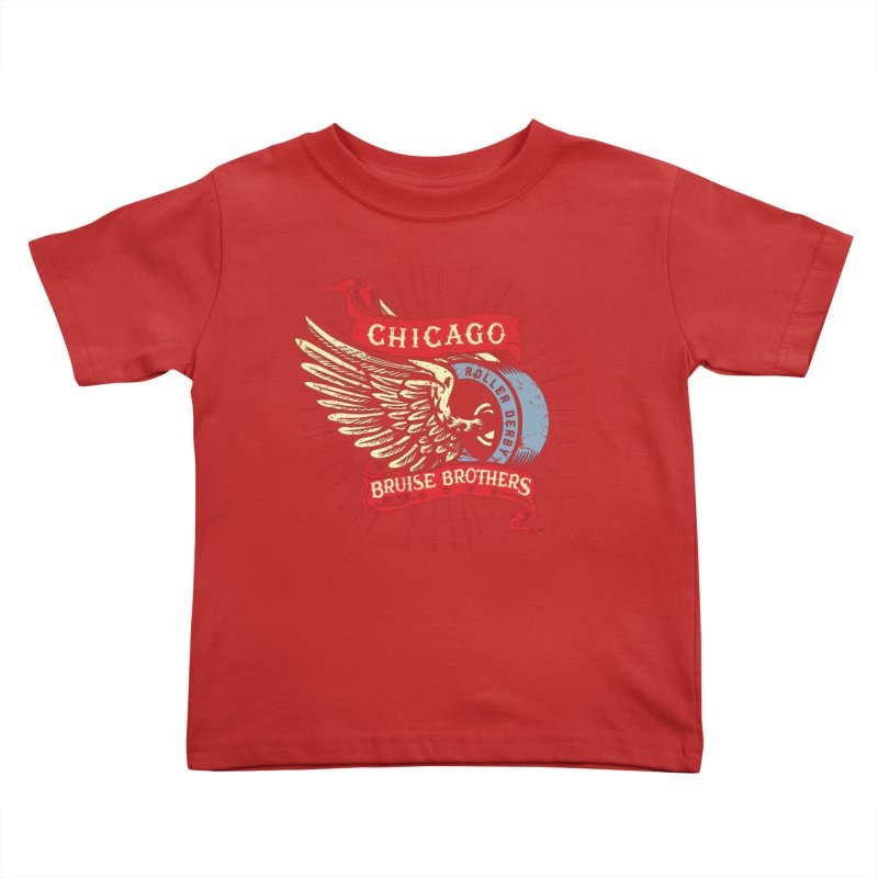 Heritage Design Kids Toddler T-Shirt by Chicago Bruise Brothers Roller Derby