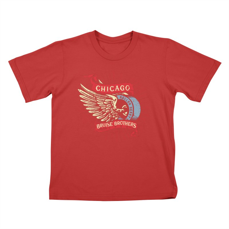 Heritage Design Kids T-Shirt by Chicago Bruise Brothers Roller Derby