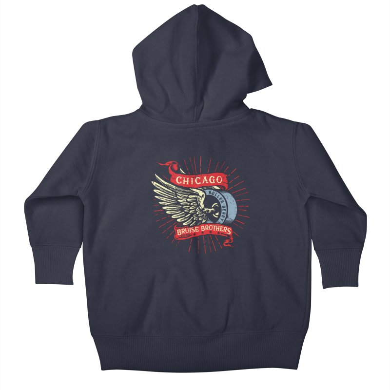 Heritage Design Kids Baby Zip-Up Hoody by Chicago Bruise Brothers Roller Derby