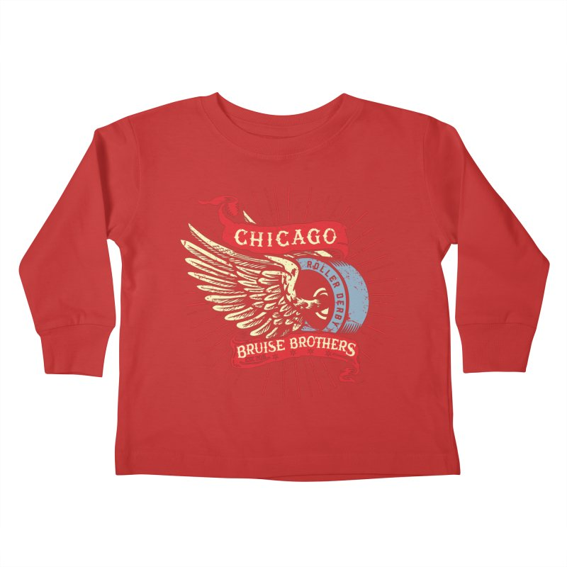 Heritage Design Kids Toddler Longsleeve T-Shirt by Chicago Bruise Brothers Roller Derby