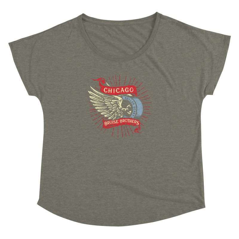 Heritage Design Women's Dolman Scoop Neck by Chicago Bruise Brothers Roller Derby