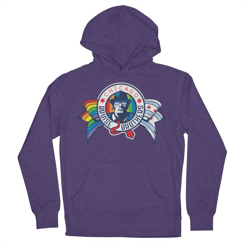 Pride Men's French Terry Pullover Hoody by Chicago Bruise Brothers Roller Derby