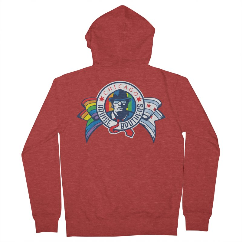 Pride Women's French Terry Zip-Up Hoody by Chicago Bruise Brothers Roller Derby