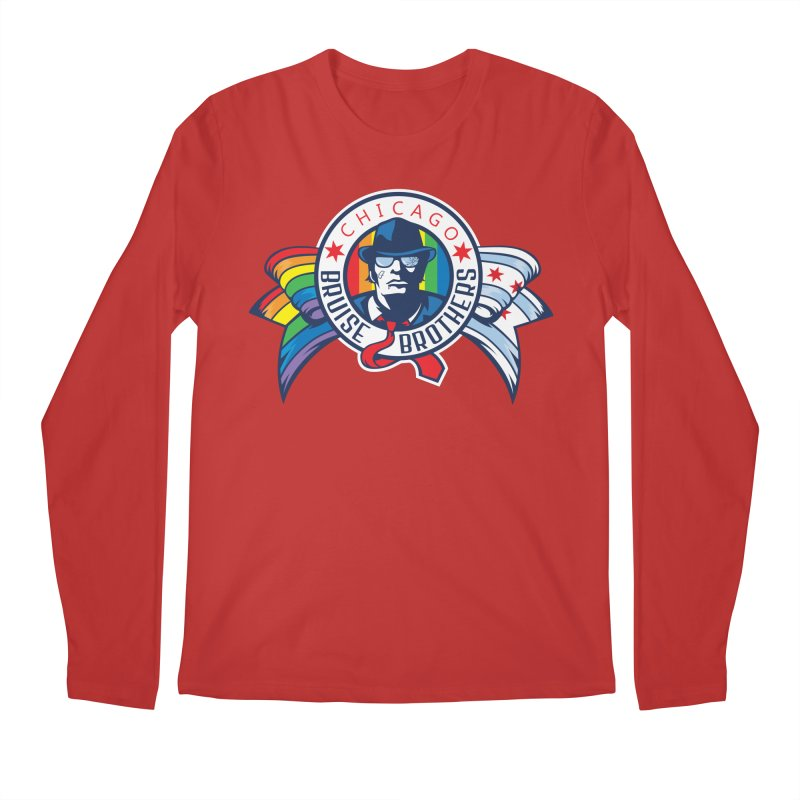 Pride Men's Regular Longsleeve T-Shirt by Chicago Bruise Brothers Roller Derby