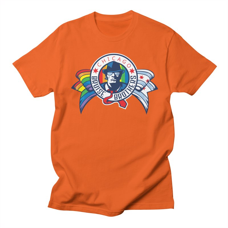 Pride Women's Regular Unisex T-Shirt by Chicago Bruise Brothers Roller Derby