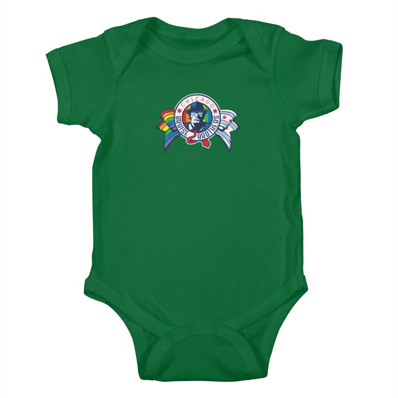 Pride Kids Baby Bodysuit by Chicago Bruise Brothers Roller Derby