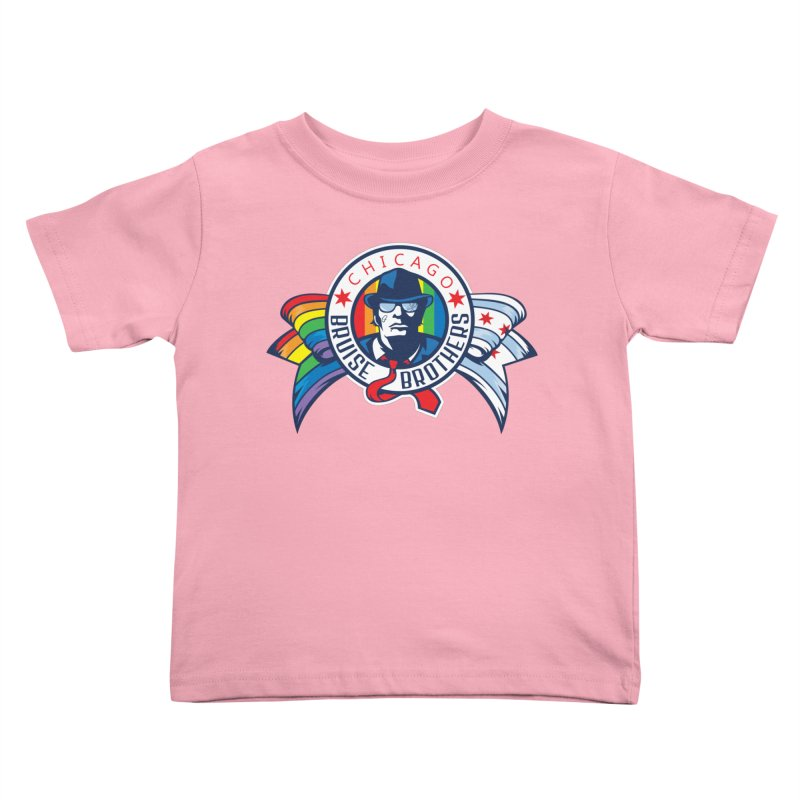 Pride Kids Toddler T-Shirt by Chicago Bruise Brothers Roller Derby