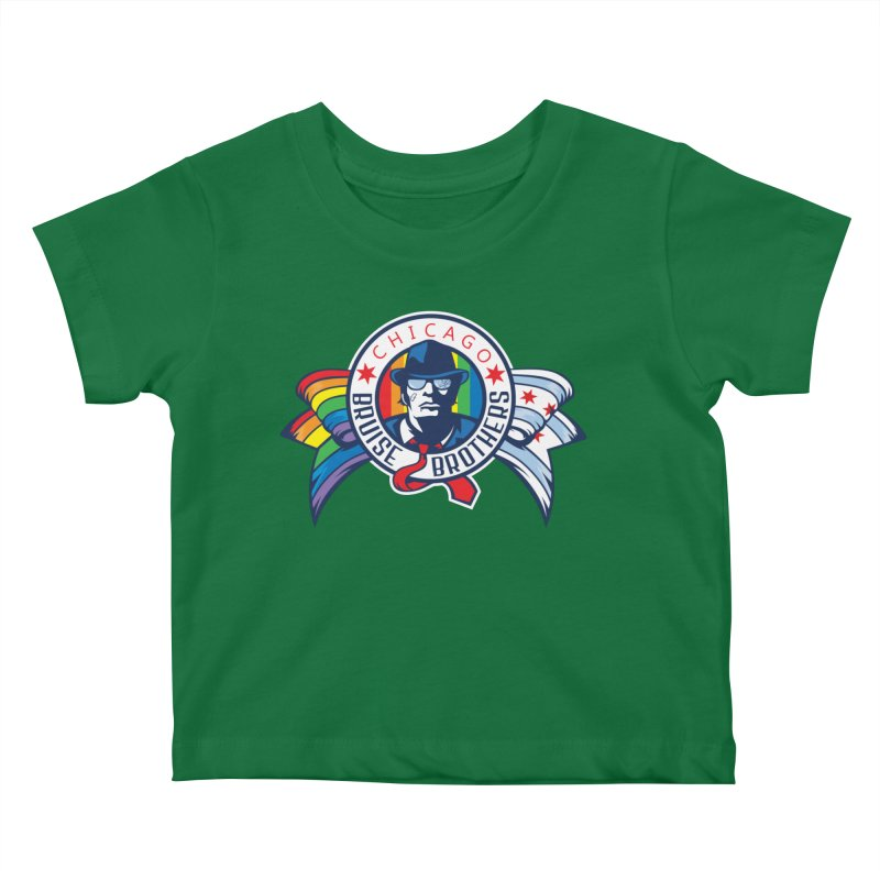 Pride Kids Baby T-Shirt by Chicago Bruise Brothers Roller Derby