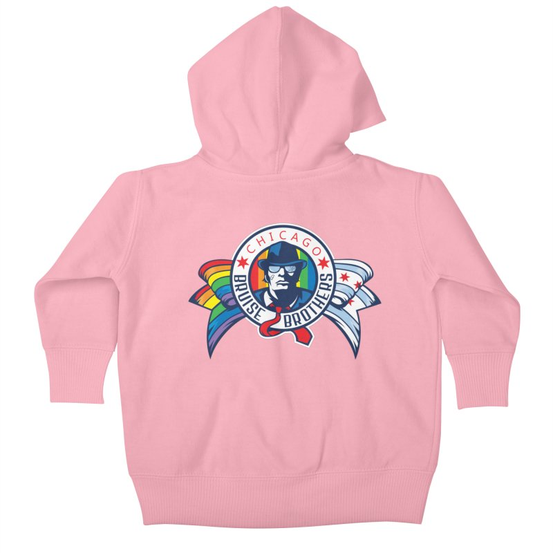 Pride Kids Baby Zip-Up Hoody by Chicago Bruise Brothers Roller Derby