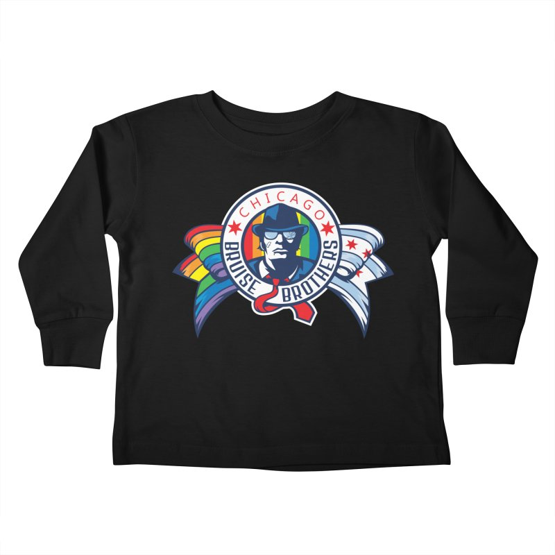 Pride Kids Toddler Longsleeve T-Shirt by Chicago Bruise Brothers Roller Derby