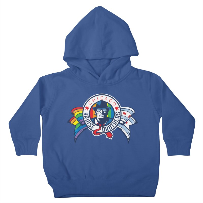Pride Kids Toddler Pullover Hoody by Chicago Bruise Brothers Roller Derby