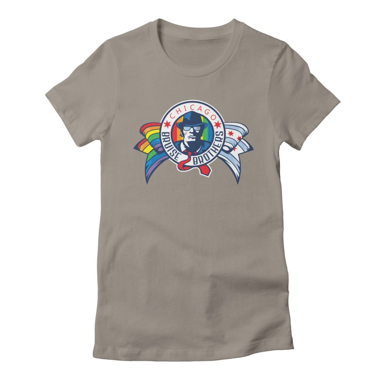 Pride Women's Fitted T-Shirt by Chicago Bruise Brothers Roller Derby