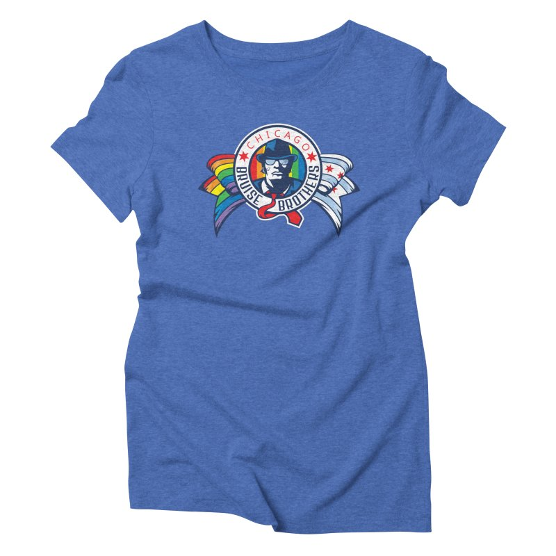 Pride Women's Triblend T-Shirt by Chicago Bruise Brothers Roller Derby