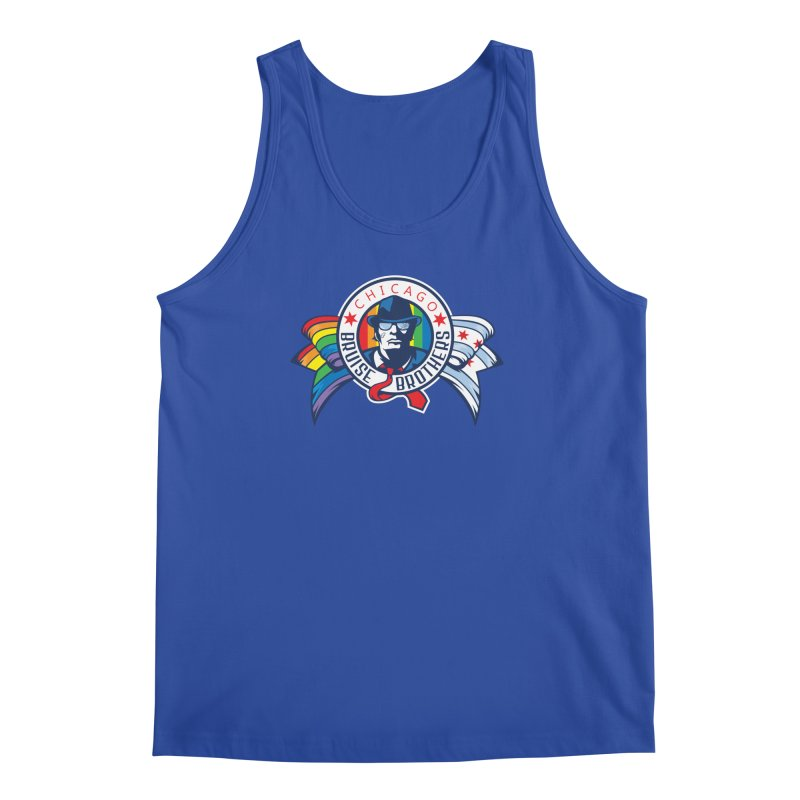 Pride in Men's Regular Tank Royal Blue by Chicago Bruise Brothers Roller Derby