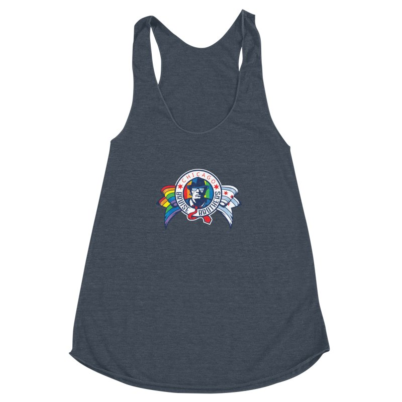 Pride Women's Racerback Triblend Tank by Chicago Bruise Brothers Roller Derby