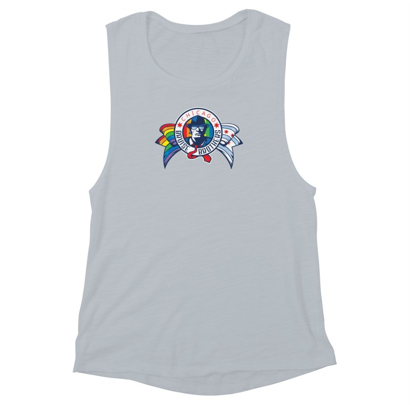 Pride Women's Muscle Tank by Chicago Bruise Brothers Roller Derby