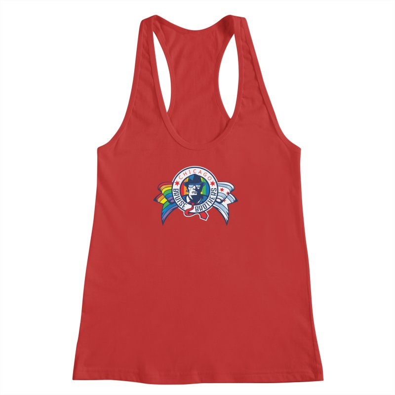 Pride Women's Racerback Tank by Chicago Bruise Brothers Roller Derby