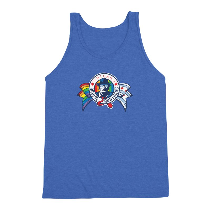 Pride Men's Triblend Tank by Chicago Bruise Brothers Roller Derby