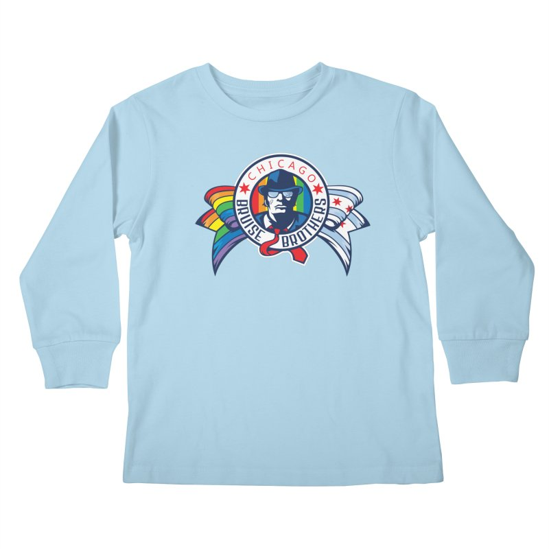 Pride Kids Longsleeve T-Shirt by Chicago Bruise Brothers Roller Derby