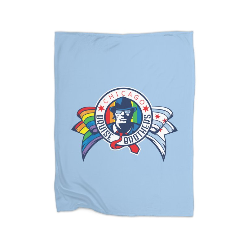 Pride Home Fleece Blanket Blanket by Chicago Bruise Brothers Roller Derby