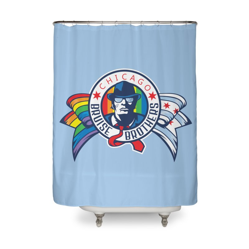 Pride Home Shower Curtain by Chicago Bruise Brothers Roller Derby