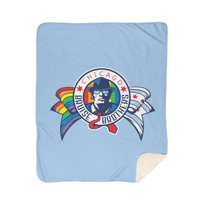Pride Home Sherpa Blanket Blanket by Chicago Bruise Brothers Roller Derby