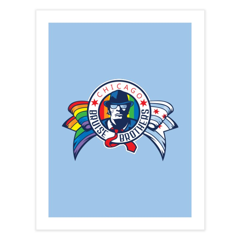 Pride Home Fine Art Print by Chicago Bruise Brothers Roller Derby