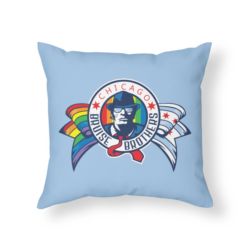 Pride Home Throw Pillow by Chicago Bruise Brothers Roller Derby