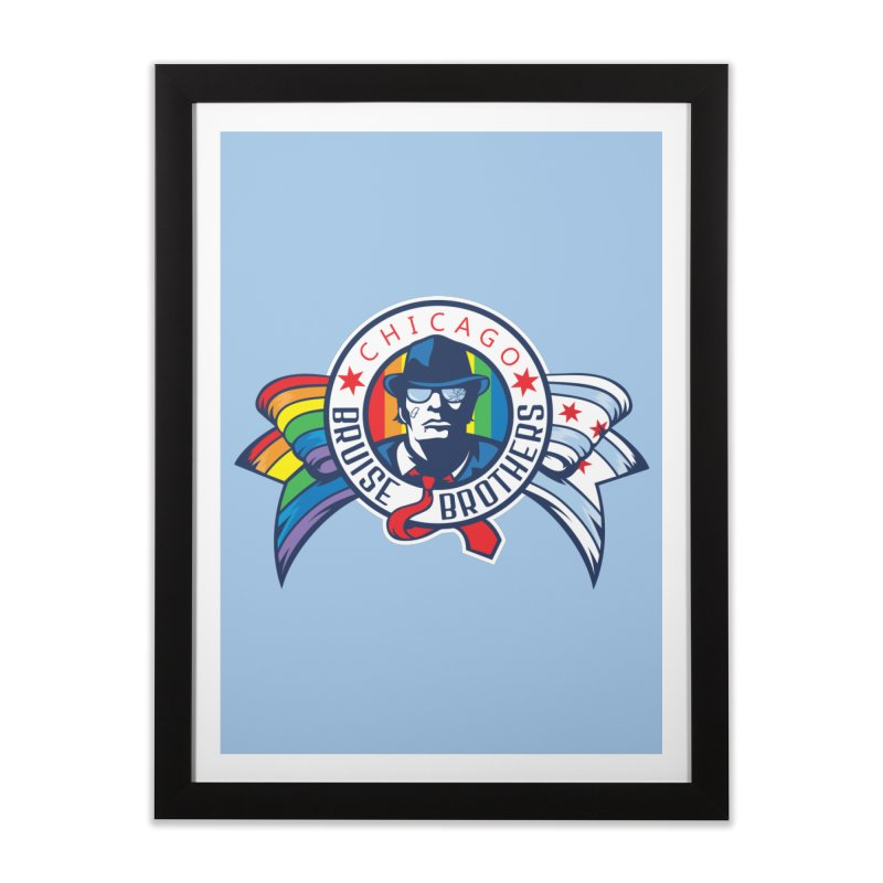 Pride Home Framed Fine Art Print by Chicago Bruise Brothers Roller Derby