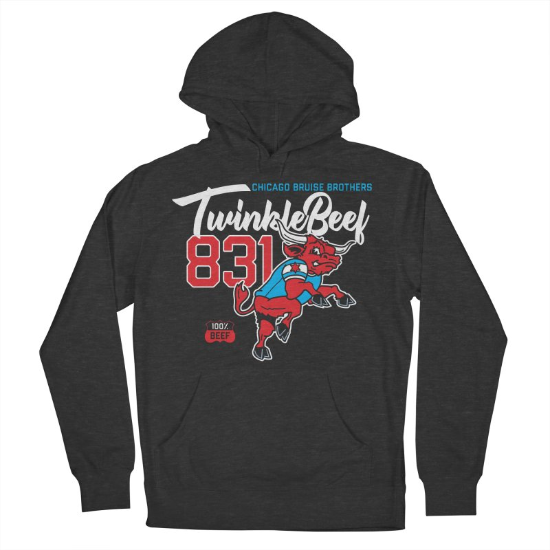Skater Series: TwinkleBeef Men's French Terry Pullover Hoody by Chicago Bruise Brothers Roller Derby