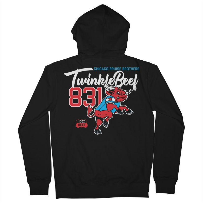Skater Series: TwinkleBeef Women's French Terry Zip-Up Hoody by Chicago Bruise Brothers Roller Derby