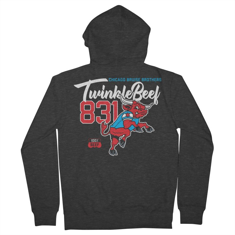 Skater Series: TwinkleBeef Men's French Terry Zip-Up Hoody by Chicago Bruise Brothers Roller Derby