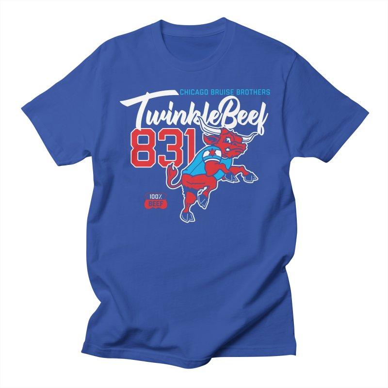 Skater Series: TwinkleBeef Men's Regular T-Shirt by Chicago Bruise Brothers Roller Derby