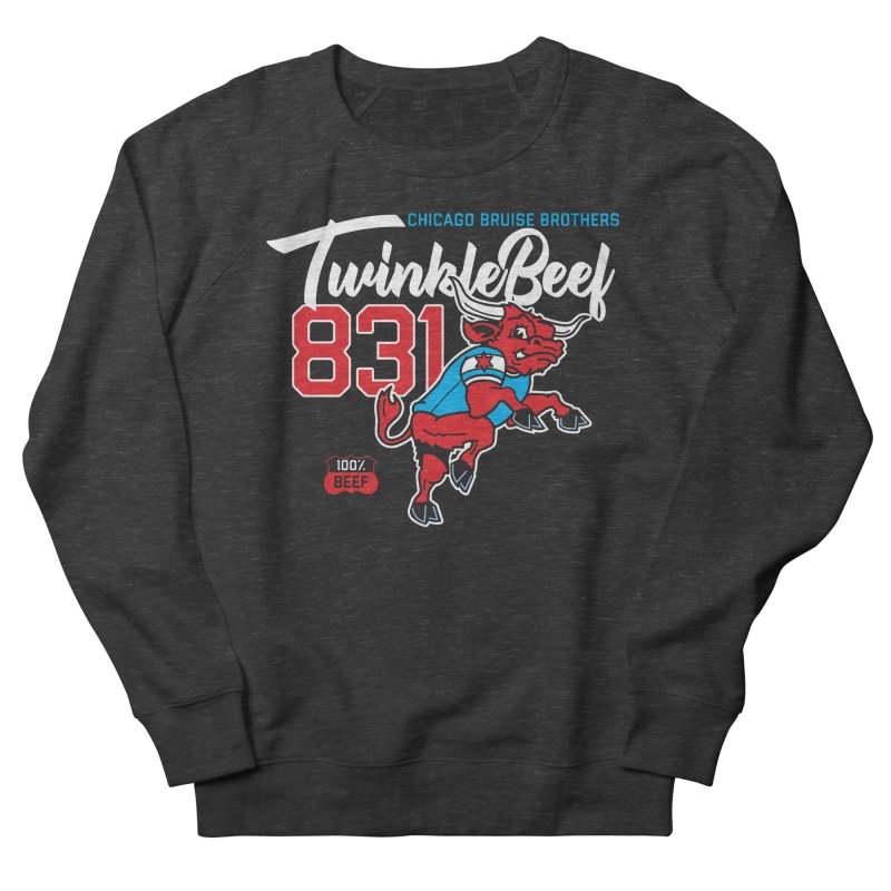 Skater Series: TwinkleBeef Men's French Terry Sweatshirt by Chicago Bruise Brothers Roller Derby
