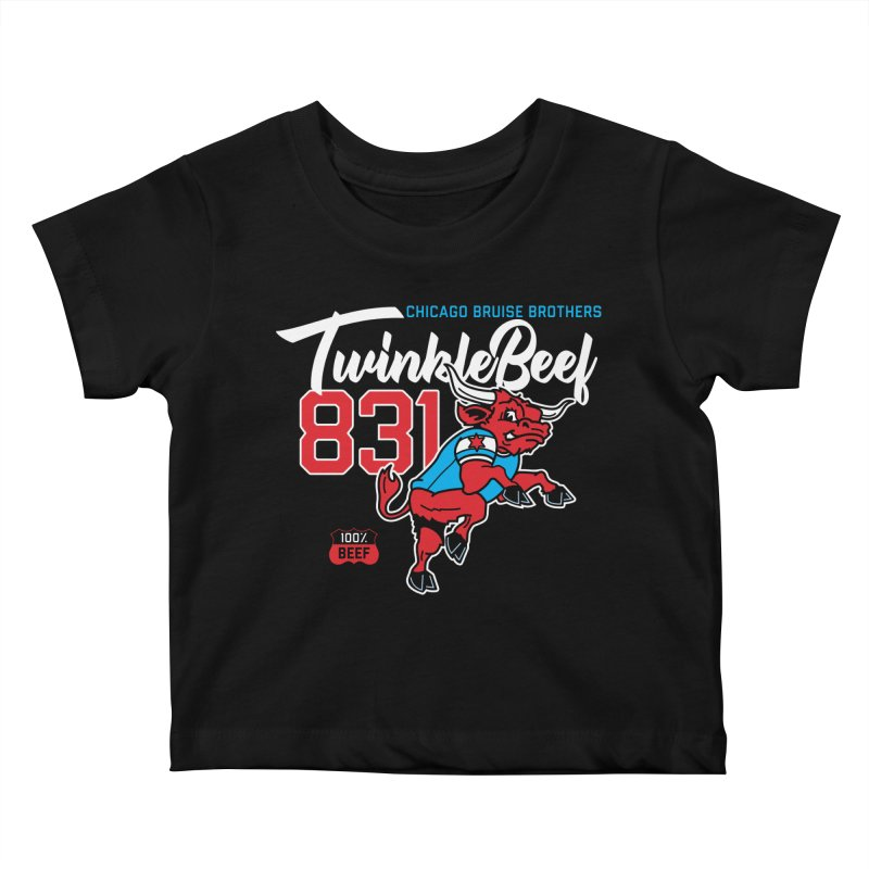 Skater Series: TwinkleBeef Kids Baby T-Shirt by Chicago Bruise Brothers Roller Derby