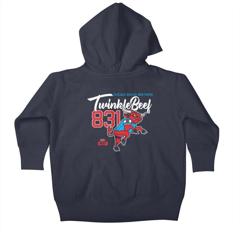 Skater Series: TwinkleBeef Kids Baby Zip-Up Hoody by Chicago Bruise Brothers Roller Derby