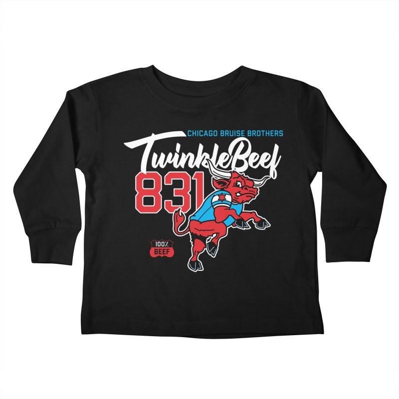 Skater Series: TwinkleBeef Kids Toddler Longsleeve T-Shirt by Chicago Bruise Brothers Roller Derby