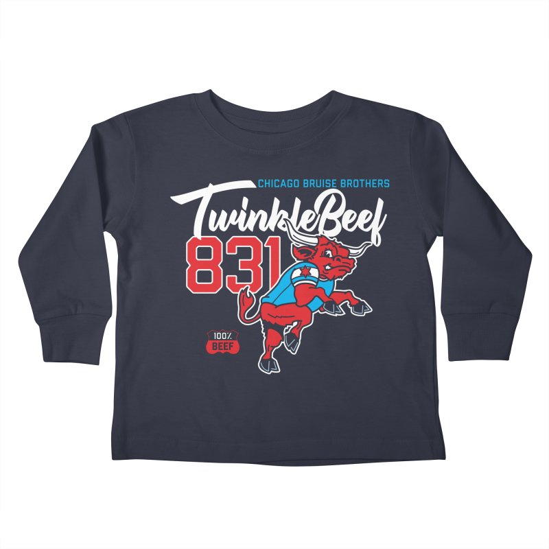Skater Series: TwinkleBeef Kids Toddler Longsleeve T-Shirt by Chicago Bruise Brothers Roller Derby