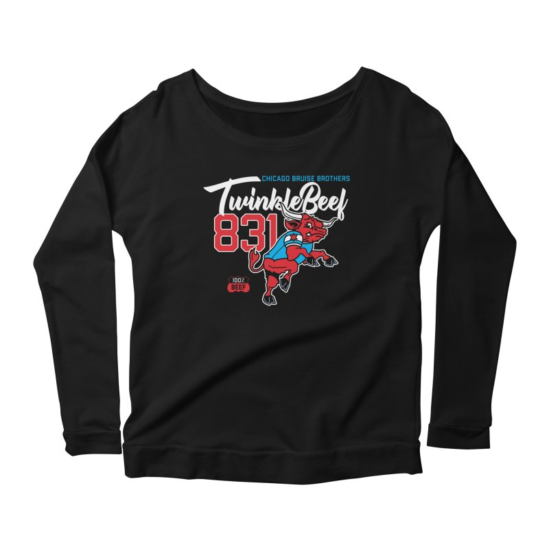 Skater Series: TwinkleBeef Women's Scoop Neck Longsleeve T-Shirt by Chicago Bruise Brothers Roller Derby