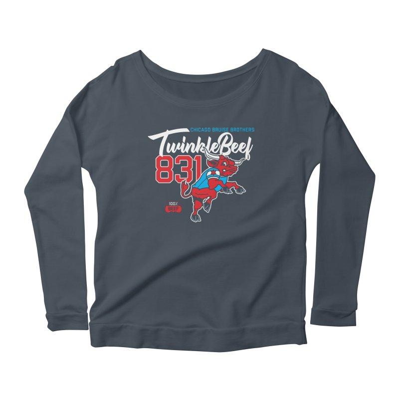 Skater Series: TwinkleBeef Women's Scoop Neck Longsleeve T-Shirt by Chicago Bruise Brothers Roller Derby