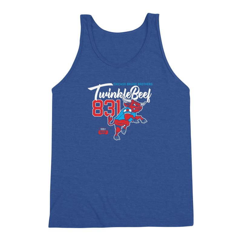Skater Series: TwinkleBeef Men's Triblend Tank by Chicago Bruise Brothers Roller Derby