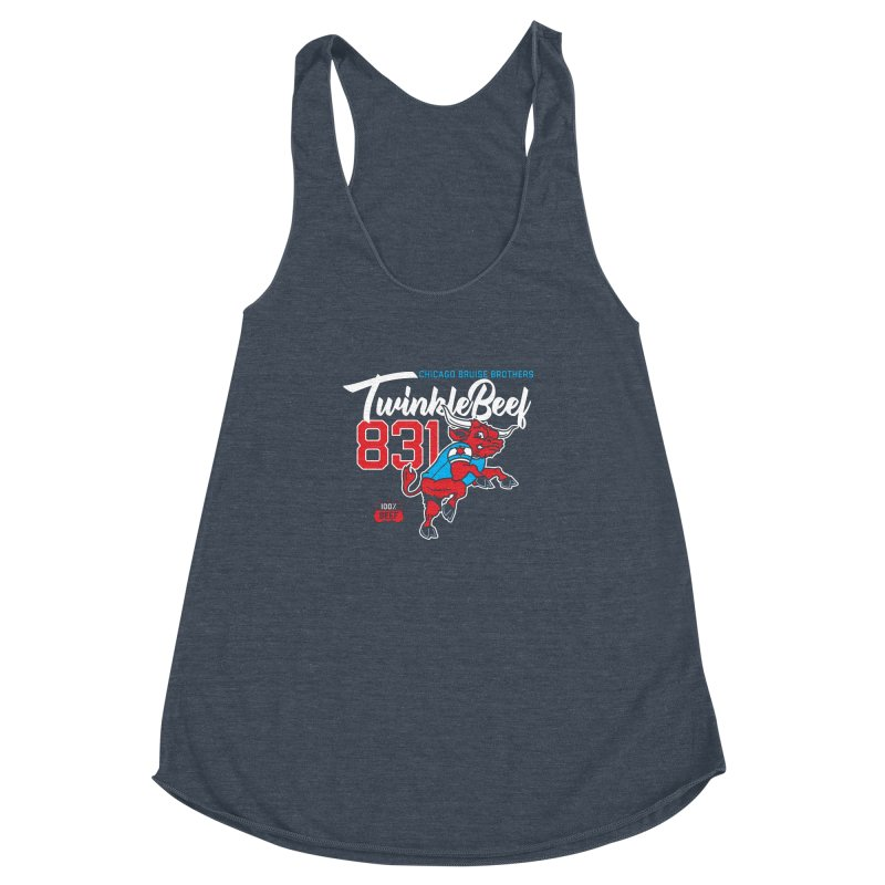 Skater Series: TwinkleBeef Women's Racerback Triblend Tank by Chicago Bruise Brothers Roller Derby