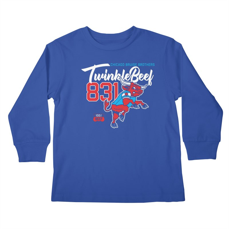 Skater Series: TwinkleBeef Kids Longsleeve T-Shirt by Chicago Bruise Brothers Roller Derby