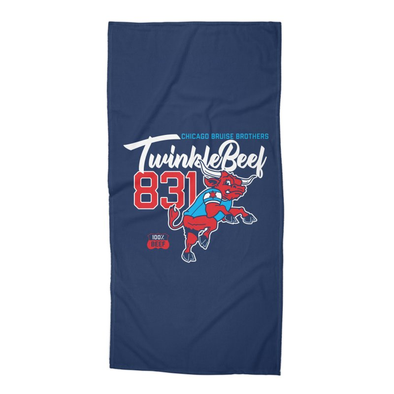 Skater Series: TwinkleBeef Accessories Beach Towel by Chicago Bruise Brothers Roller Derby