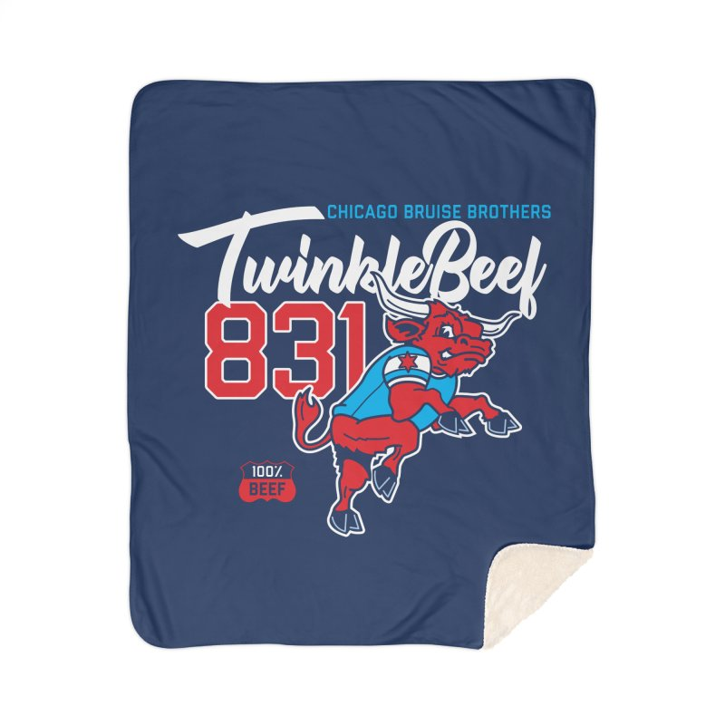 Skater Series: TwinkleBeef Home Sherpa Blanket Blanket by Chicago Bruise Brothers Roller Derby