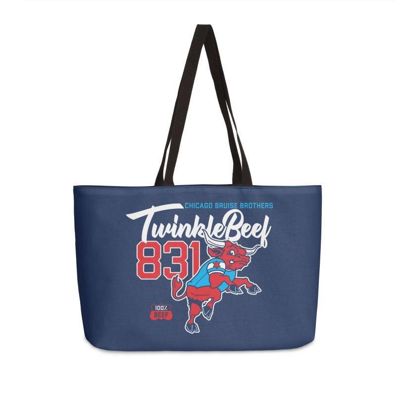 Skater Series: TwinkleBeef Accessories Weekender Bag Bag by Chicago Bruise Brothers Roller Derby