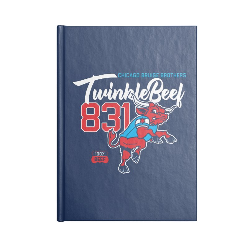 Skater Series: TwinkleBeef Accessories Blank Journal Notebook by Chicago Bruise Brothers Roller Derby